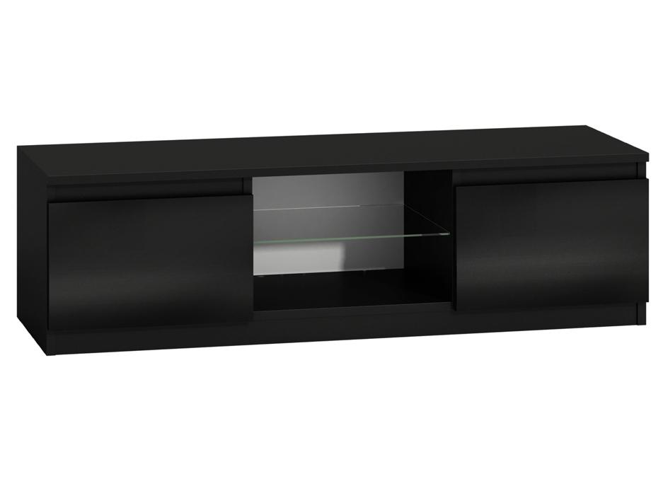 tv stolek 140 cm ern s led osv tlen m dobr. Black Bedroom Furniture Sets. Home Design Ideas
