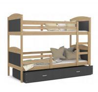 Dětská patrová postel Matyas dřevěná 160x80