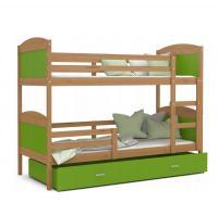 Dětská dřevěná patrová postel Matyas 200x90