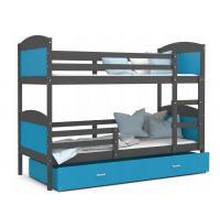 Barevná patrová postel MATYAS 200x90
