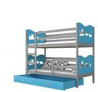 Dětská patrová postel MAX COLOR 190x80