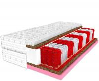 Zdravotní matrace Energy s paměťovou pěnou a kokosem 510 pružin/m2