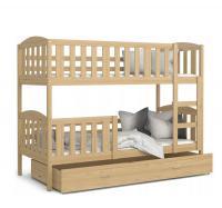 Dětská patrová postel KUBU dřevěný 200x90 cm