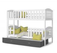 Barevná patrová postel KUBU 3 190x80