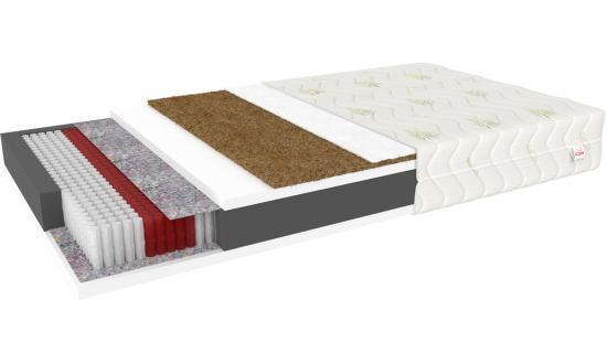 Taštičková matrace MONTALTO s kokosovým vláknem 80x200 cm