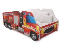 Dětská postel TRUCK AUTO 140x70 hasiči