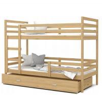 Dětská patrová postel JACEK dřevěný 90x200