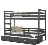 Dětská patrová postel s přistýlkou JACEK 3 barevný 90x200
