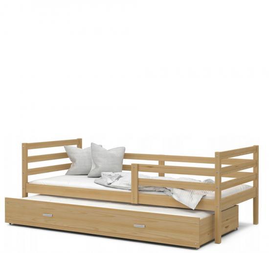 Dětská postel s přistýlkou JACEK P2 dřevěný 90x200