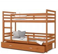 Dětská patrová postel JACEK dřevěný 80x190
