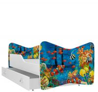 Barevná jednolůžková postel KEVIN 80x140