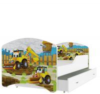 Dětská postel IGOR se šuplíkem 140x80 Pohádkové vzory