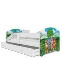 Pohádková postel LUCKY 160x80 barevná