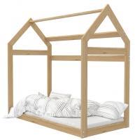 Dětská dřevěná postel Domeček 160x80 cm borovice
