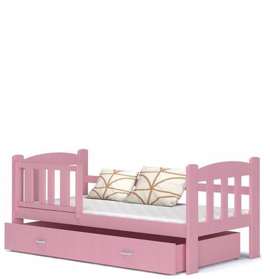 Dětská postel ALAN 70x160 barevná VÝPRODEJ růžová
