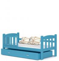 Dětská postel ALAN 70x160 barevná VÝPRODEJ modrá