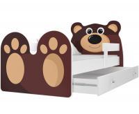 Dětská postel MEDVĚD 160x80 cm