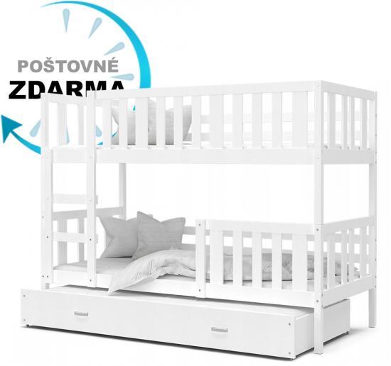 Dětská patrová postel pro 3 děti NEMO COLOR 190x80 cm