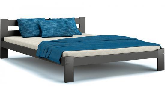 Masivní postel ARIZONA 180x200 ŠEDÁ