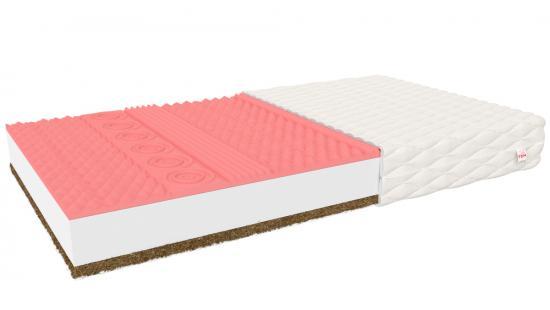 Luxusní pěnová matrace INDUS s paměťovou pěnou a kokosem
