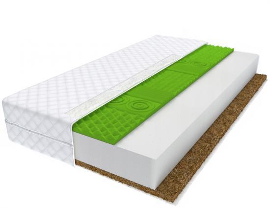 Pěnová matrace DORADO s kokosovým vláknem a 7mi zónovou HR pěnou