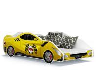Dětská postel AUTO 180x90 žlutá