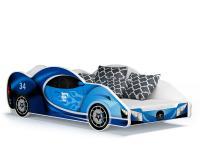 Dětská postel AUTO 180x90 modrá