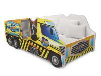 Dětská postel TRUCK AUTO 140x70 míchačka