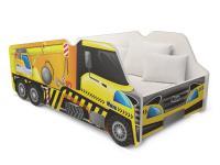 Dětská postel TRUCK AUTO 140x70 jeřáb