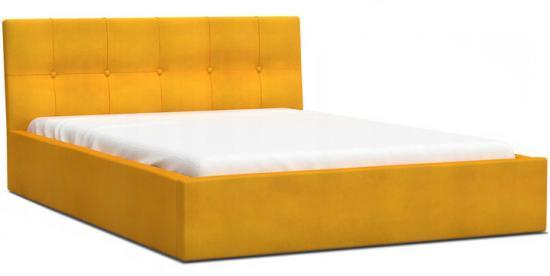Luxusní manželská postel VEGAS 1 žlutá 140x200 z paris dřevěným roštem