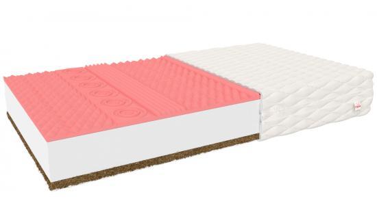 Luxusní pěnová matrace INDUS MAX s paměťovou pěnou a kokosem