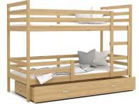 Dětská patrová postel JACEK dřevěná 80x190 borovice Výprodej