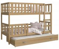 Dětská patrová postel NEMO 3 190x80 cm BOROVICE