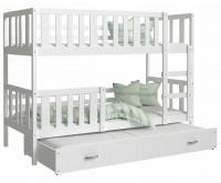 Dětská patrová postel NEMO 3 200x90 cm BÍLÁ