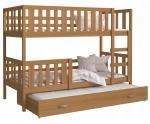 Dětská patrová postel NEMO 3 190x80 cm OLŠE