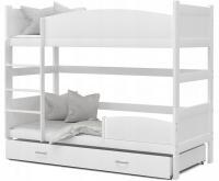 Patrová postel TWIST BÍLÁ / BÍLÁ