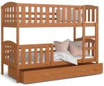 Dětská patrová postel KUBU 190x80 cm OLŠE