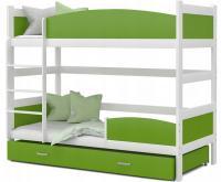 Patrová postel TWIST BÍLÁ / ZELENÁ