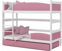 Patrová postel TWIST BÍLÁ / RŮŽOVÁ