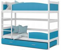 Patrová postel TWIST BÍLÁ / MODRÁ