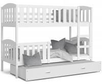 Dětská patrová postel KUBU 3 190x80 cm BÍLÁ BÍLÁ