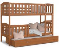 Dětská patrová postel KUBU 3 200x90 cm OLŠE