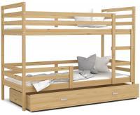 Dětská patrová postel JACEK 200x90 cm BOROVICE