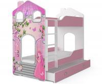 Dětská patrová postel DOMINIK DOMEK 190x80 Princezna