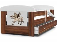 Dětská postel FILIP 160x80 zásuvka na kolejnici kalvados vzor 3 (VÝPRODEJ)