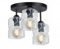 Skleněný stropní lustr se zavěšením LED Plafon bílá