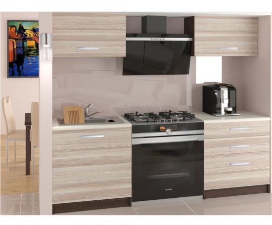 Moderní malá kuchyňská sestava TORINO VULCANO v krémové barvě
