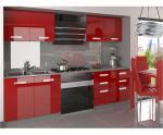 Moderní kuchyňská sestava Infinity Kompakto v červené barvě