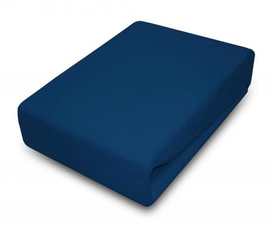 Prostěradlo JERSEY 90x200 cm Tmavě modrá 100% bavlna