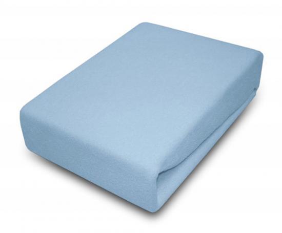 Prostěradlo JERSEY 90x200 cm Modrá 100% bavlna